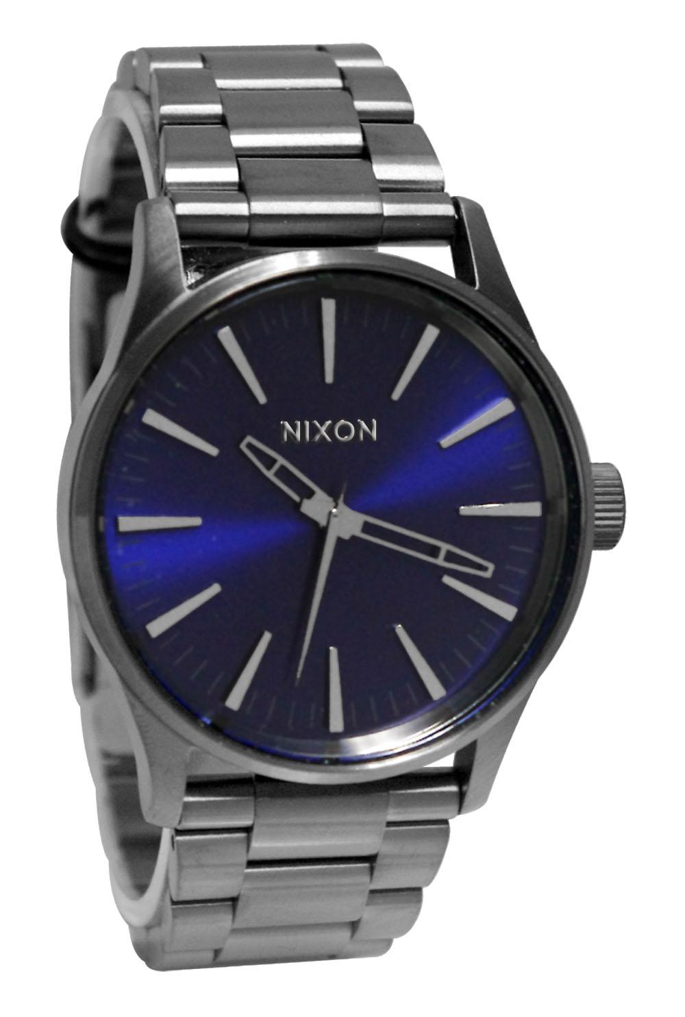a4502065 sentry 38 ss gunmetal cobali sunray blue steel watch