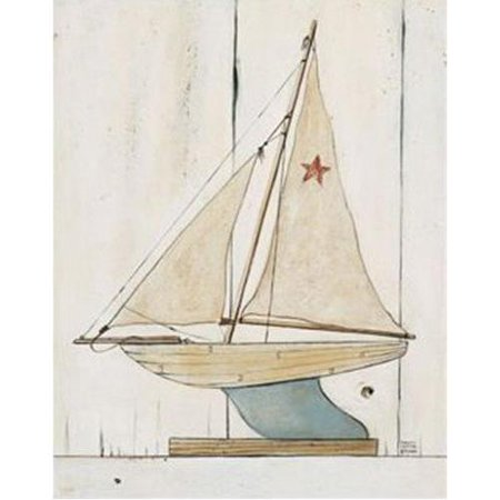 - Pond Yacht II by David Carter Brown 14x11 Art Poster PRINT
