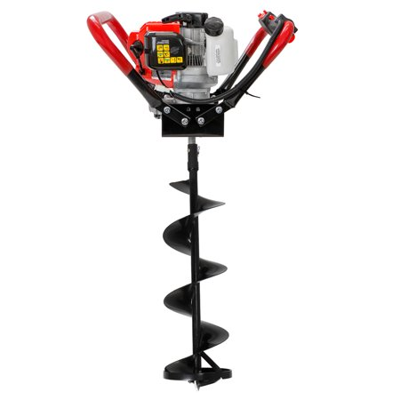 "XtremepowerUS V-Type 2 Stroke Gas Ice Post Hole Digger 55CC EPA Motor w/ Ice Auger Bit Powerhead (Digger + 8"" Ice Bit)"