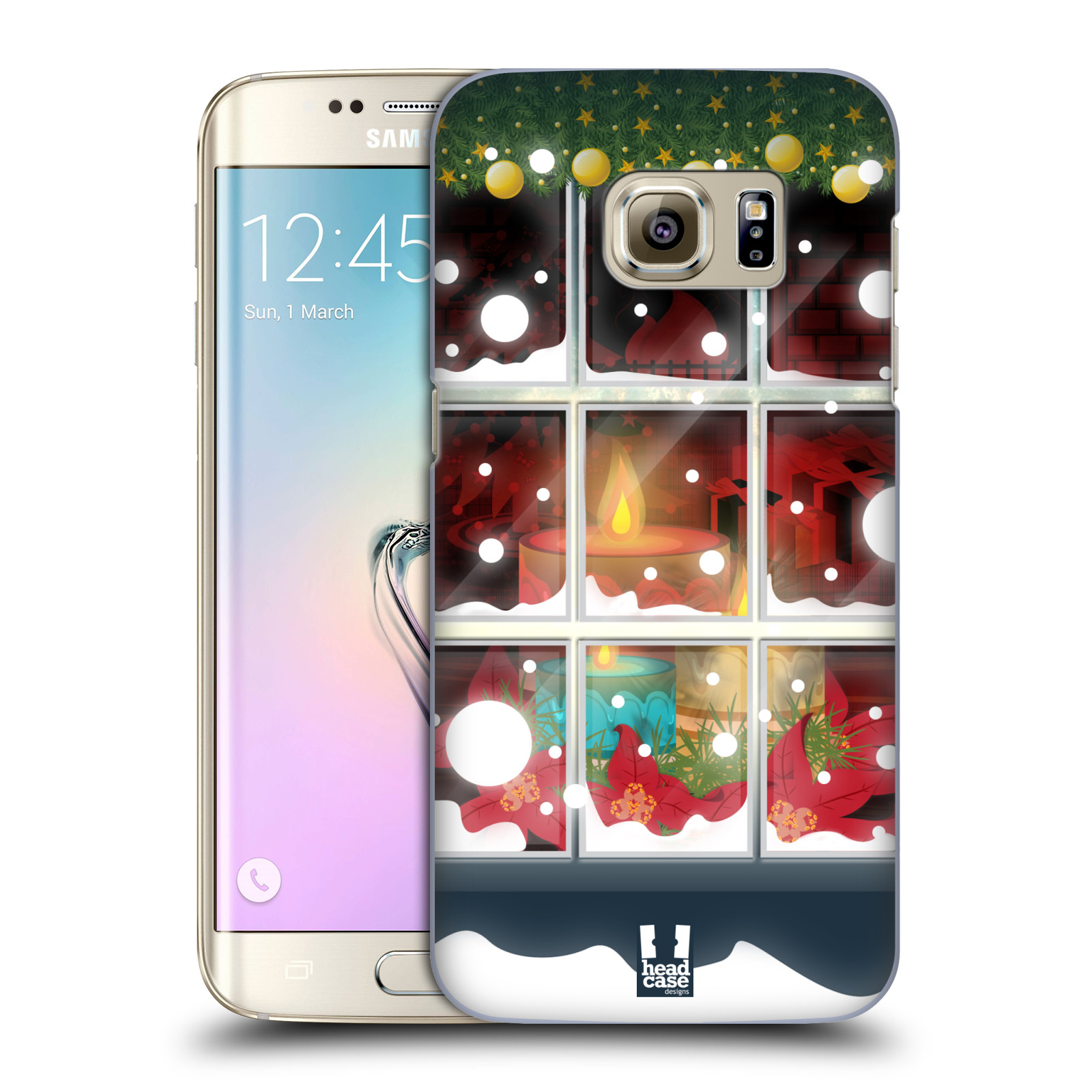 HEAD CASE DESIGNS HOLIDAY CANDLES HARD BACK CASE FOR SAMSUNG PHONES 1