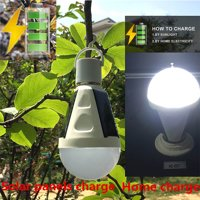Redcolourful Portable Solar Power LED Bulb Indoor Outdoor Rechargeable Emergency Lights Waterproof Hanging Camping Lamp
