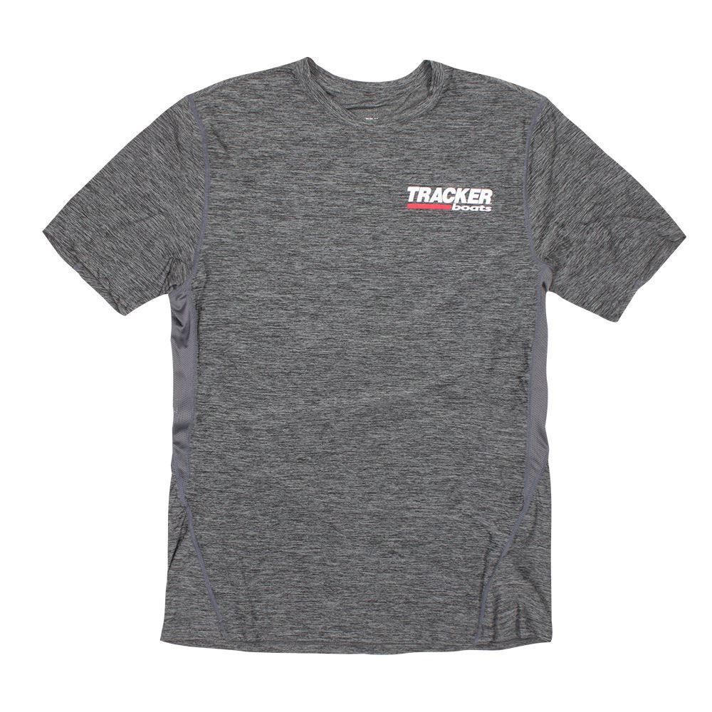 Tracker Boats 100% Polyester Charcoal Performance Short Sleeve T-Shirt