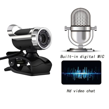 USB Computer HD Camera Video Free Drive with Microphone HD Webcam Camera - image 6 of 8