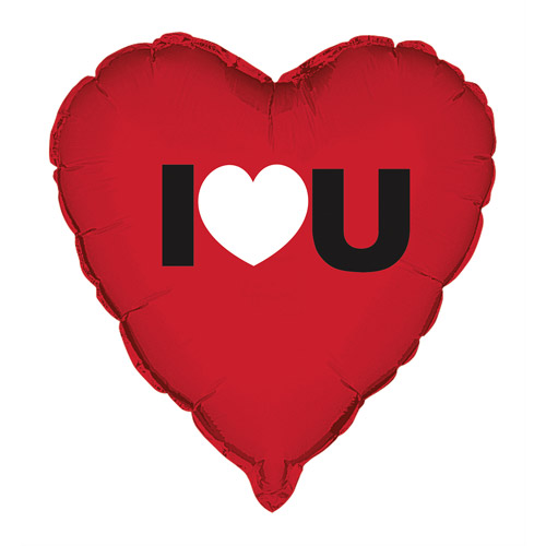 "18"" Foil I Heart You Valentine Balloon"