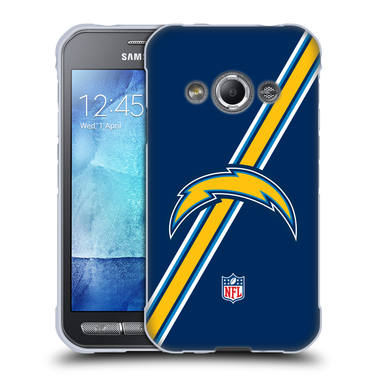 OFFICIAL NFL LOS ANGELES CHARGERS LOGO SOFT GEL CASE FOR SAMSUNG PHONES 4