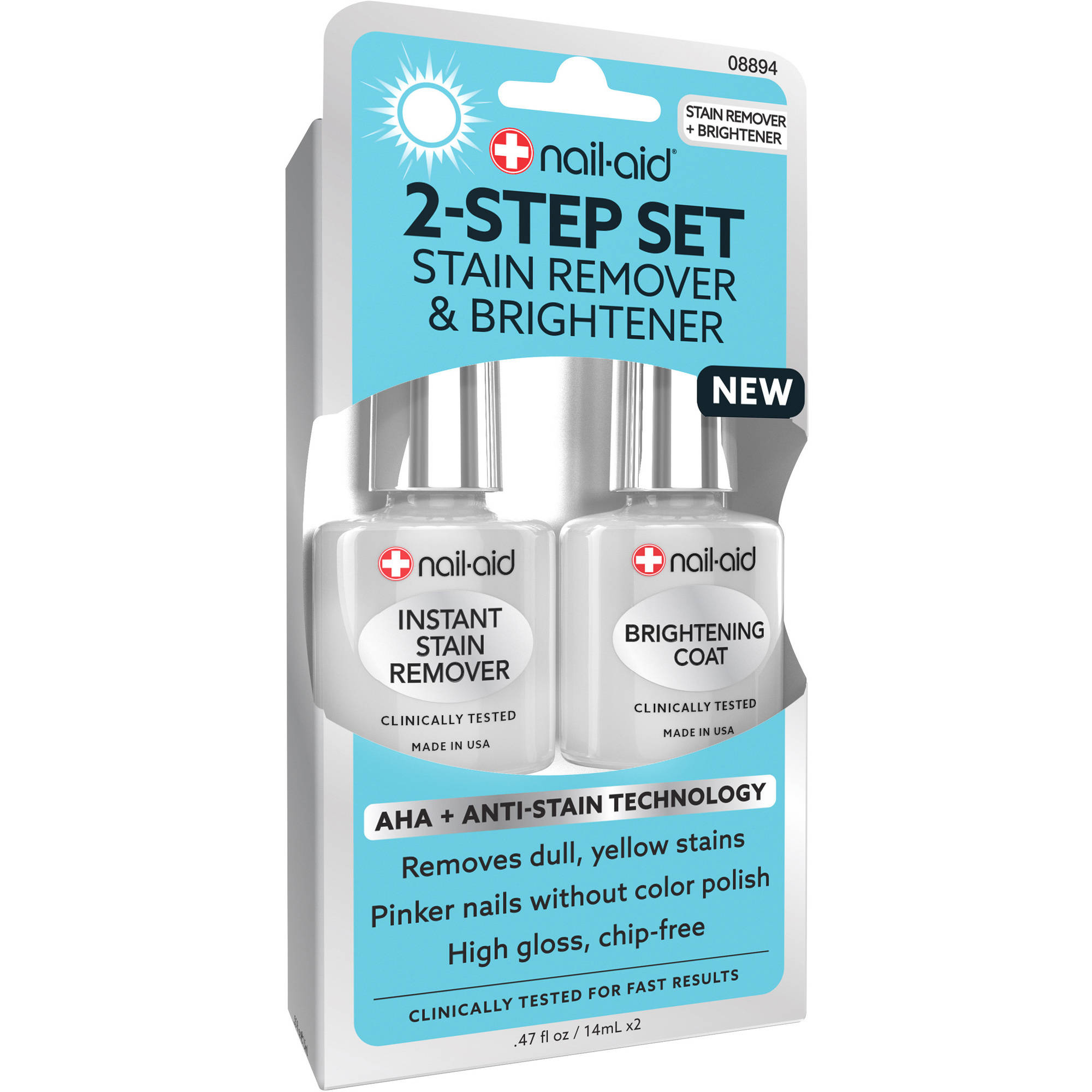 Generic Nail - aid 2 - step Set Stain Remover & Brightener Nail Treatment,