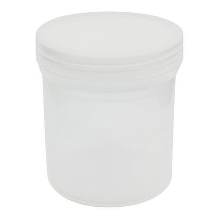 Jar Lab (Unique Bargains 300mL Capacity Clear White Plastic Chemical Storage Jar Bottle for Laboratory )