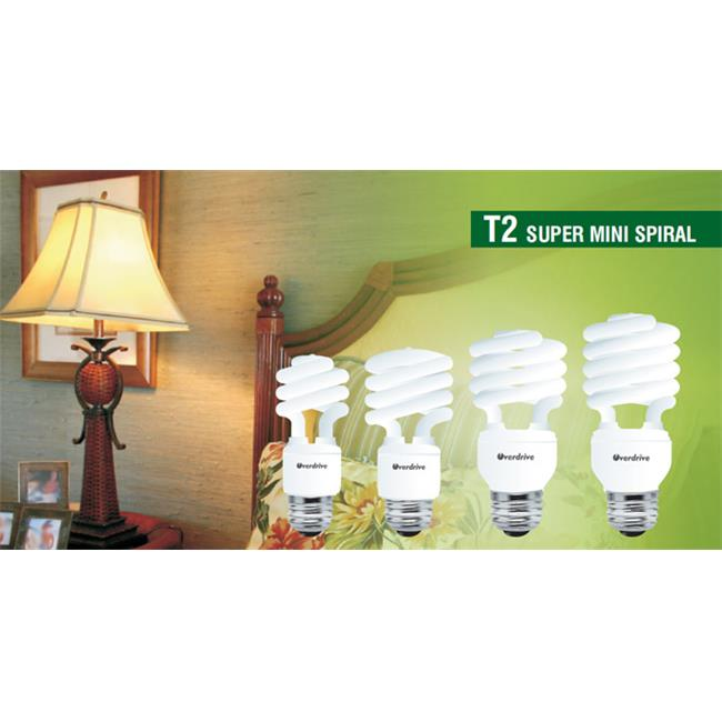 Overdrive 9W Super Mini Spiral T2 CFL-4100K Cool White, Pack Of 50