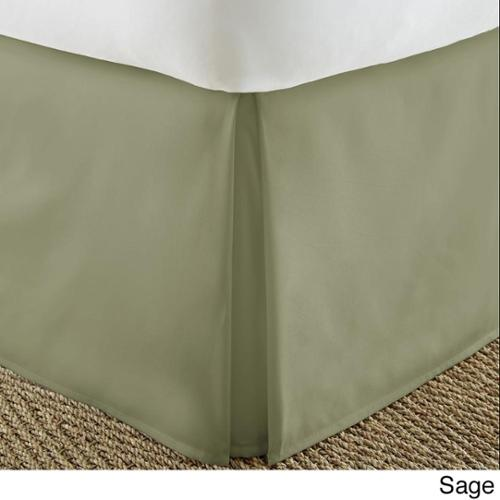 Soft Essentials Premium Pleated Bedskirt Dust Ruffle Twin - Sage