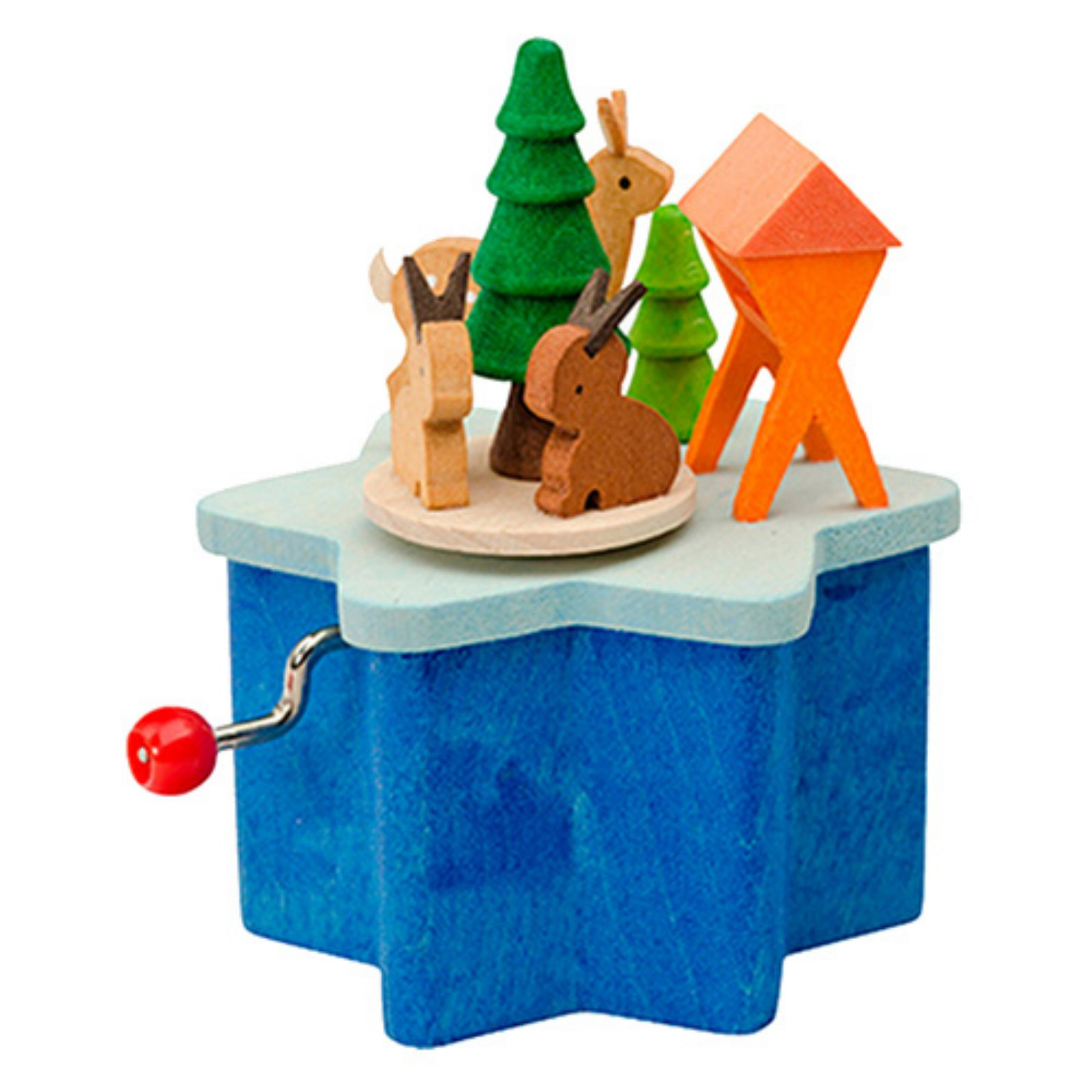 Graupner 3 in. Animals Standing On A Star Music Box