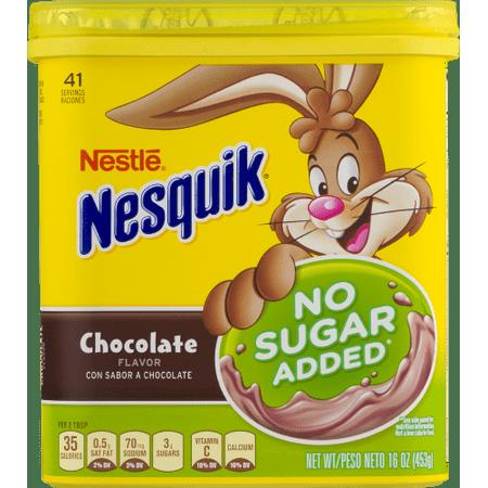 NESTLE NESQUIK No Sugar Added Chocolate Flavored (Nestle Chocolate Sugar)