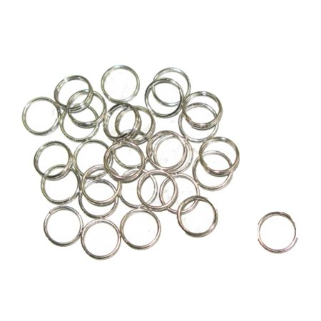 Metal Split Rings Nickel Color 100 Pack Jewelry Findings - 6 Sizes Lead Free Nickel Free - image 12 de 14