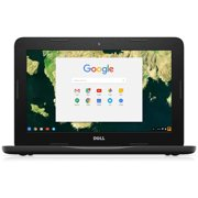 """Dell Chromebook 11 3180 - Celeron N3060 / 1.6 GHz - Chrome OS - 4 GB RAM - 16 GB eMMC - 11.6"""" 1366 x 768 (HD) - HD Graphics 400 - Wi-Fi - black - BTS - with 1 Year Dell Mail-In Service"""