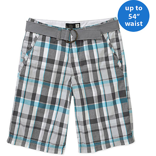 OP Big Men's Cargo Plaid Shorts