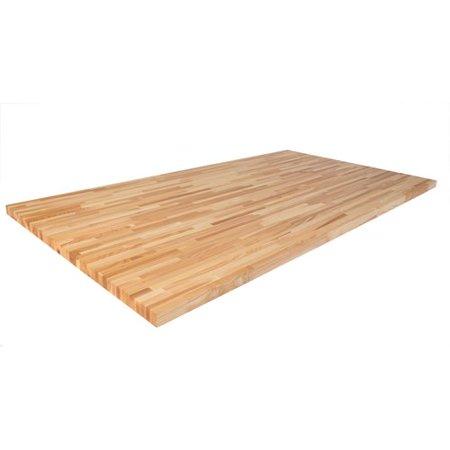 Latitude 59 Ash 74'' L x 39'' W Butcher Block Table (Ash Tone Block)