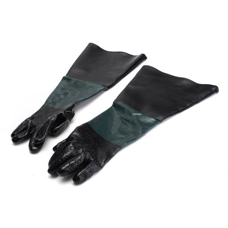 377a6def3ca A Pair of Heavy Duty Black Rubber Latex Gloves Household Industrial ...