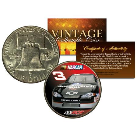 DALE EARNHARDT * #3 NASCAR * Colorized 1951 Franklin Silver Half Dollar US Coin 1951 Franklin Half Dollar