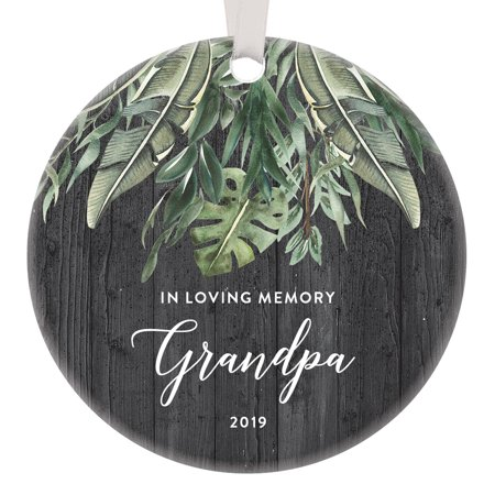 Grandpa Memorial Christmas 2019 Ornament Tribute Beloved Father Missed Love Honor Remember Grandfather Pop Pop Po Po Timeless Treasured Greenery Gift Idea For Family 3