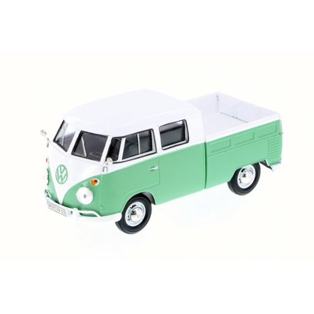 Volkswagen Type 2 Pick-Up Bus, Green - Motor Max 79343 - 1/24 Scale Diecast Model Toy Car