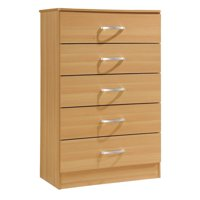 Hodedah Imports Wooden 5 Drawer Chest