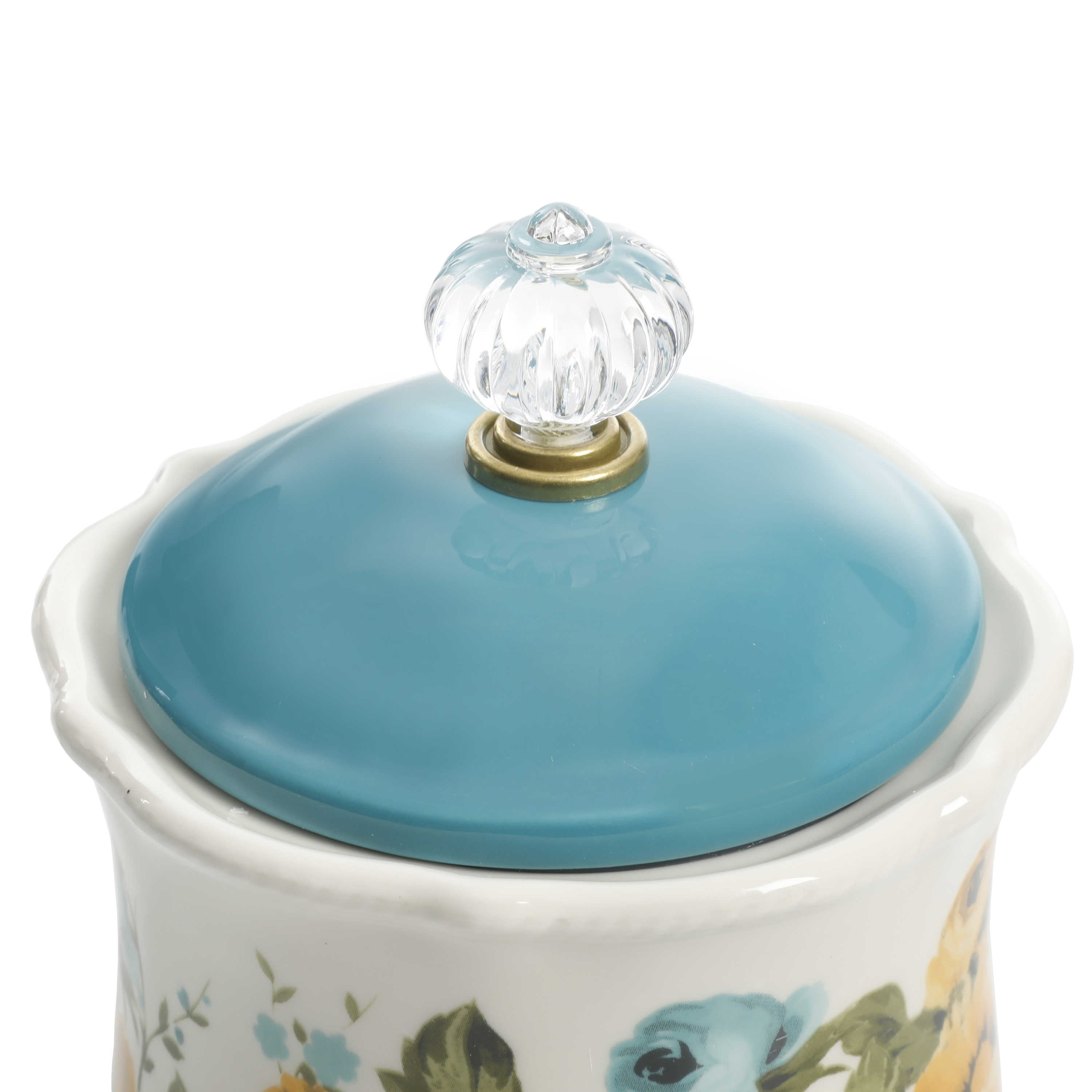 """NEW The Pioneer Woman Blossom Jubilee Canister with Acrylic Knob 8.75/"""""""