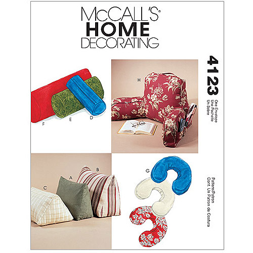McCall's Pattern Comfort Zone Pillows and Bolsters, All Sizes in 1 Envelope