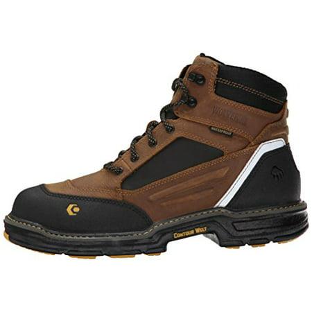 960024610c9 Wolverine Men's Overman NT 6 Inch WPF Contour Welt Work Boot, Wheat/Tan, 10  M US