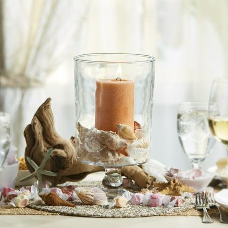 Libbey Harbor Pillar Glass Pedestal Vase, 11-inch, Set of -