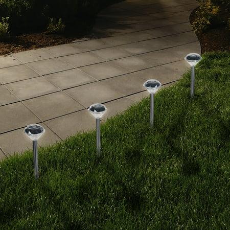 LED Solar Diamond Pathway Lights - Set of 24 by Pure Garden