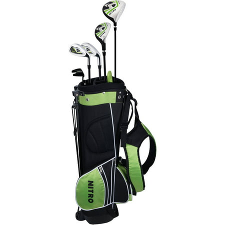 Nitro Crossfire Junior Golf Set, Black/Green