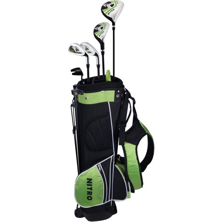 Junior Nitro Crossfire Ages 9-12 Right Hand Golf Clubs & Stand-Up Bag Set, Multi/None
