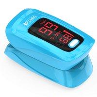 iProven OXI-27 - Finger Pulse Oximeter Heart Rate monitor Blood Oxygen Sensor Meter LED Display Blue