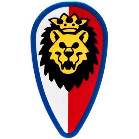LEGO LEGO Shields Lion Shield with Red and White Background Loose Accessory (Lion And Shield)