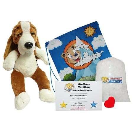 Make Your Own Stuffed Animal Basset Hound 16