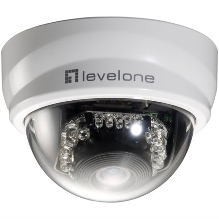 LevelOne H.264 2-Mega Pixel 10/100 Mbps PoE Mini Dome Network Camera w/IR FCS-3101