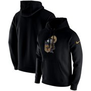 New Orleans Saints Nike Fan Gear Club Throwback Pullover Hoodie - Black