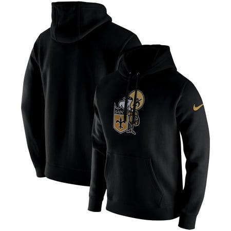 best service f35c5 2d0b8 New Orleans Saints Nike Fan Gear Club Throwback Pullover Hoodie - Black
