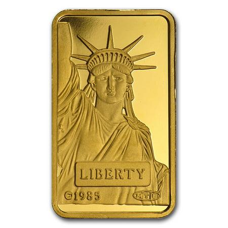 10 Gram Gold Bar   Credit Suisse Statue Of Liberty