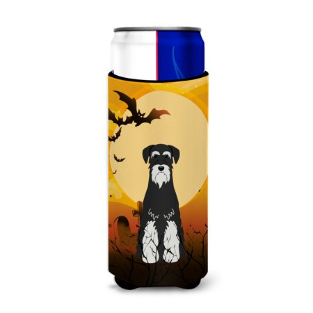 Halloween Standard Schnauzer Salt and Pepper Michelob Ultra Hugger for slim cans