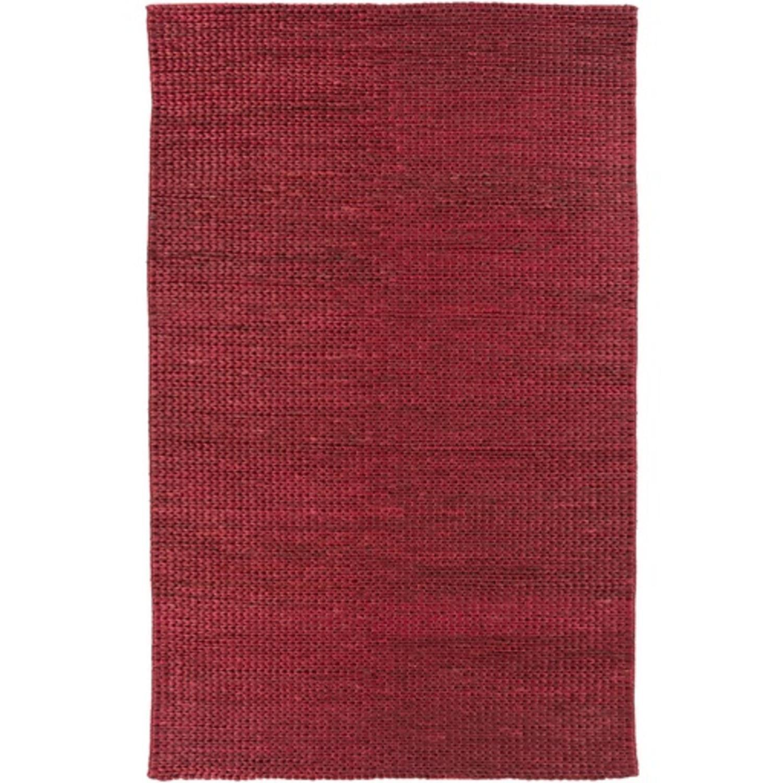 2' x 3' Modern Essentials Burgundy Red Hand Woven Area Throw Rug