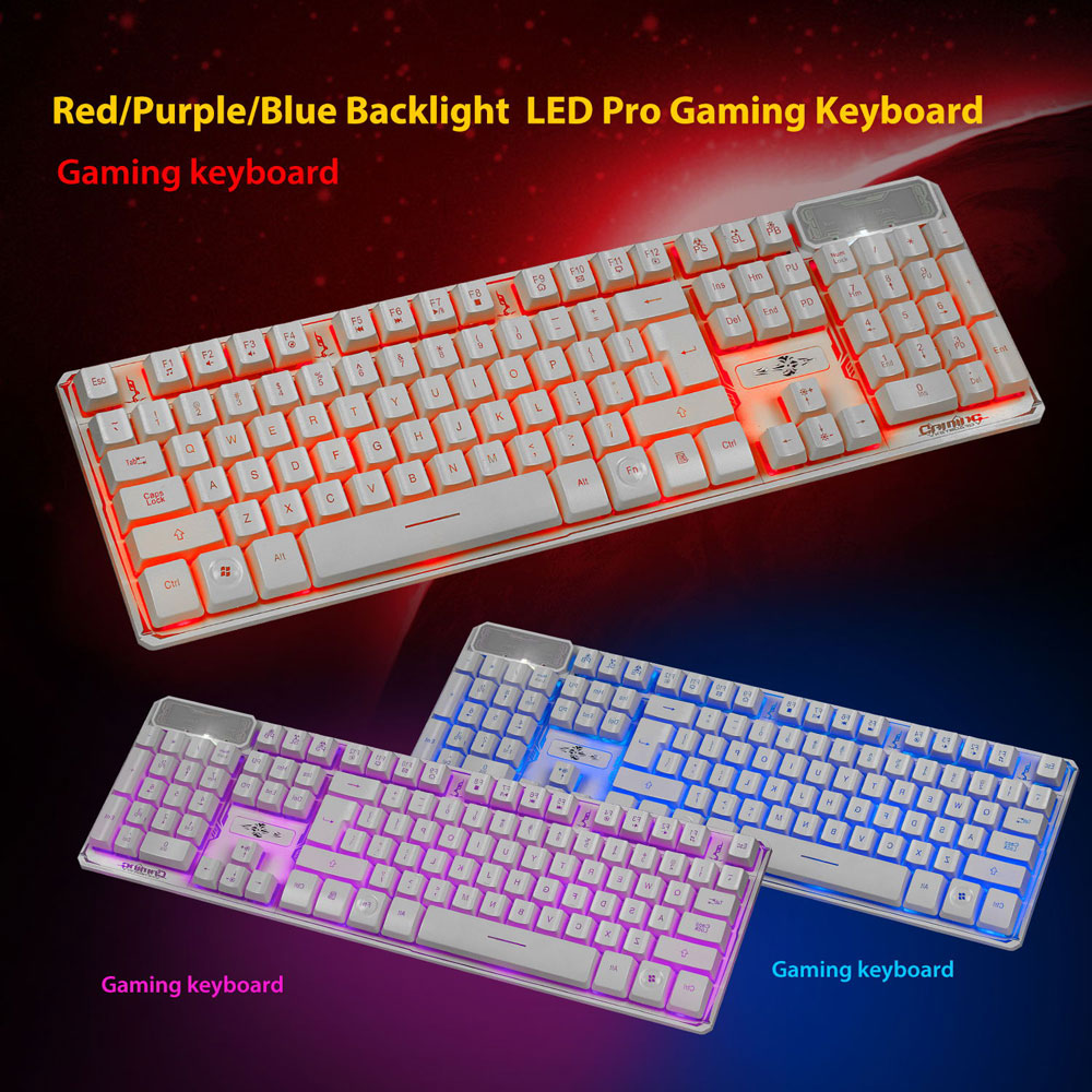 Ktaxon 3 Colors 107 Keys Wired Backlight LED Gaming Mechanical Keyboard for PC laptops