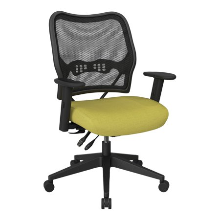 OSP Home Furnishings Office Star Space Seating Deluxe Chair with AirGrid® Back and Mesh (Osp Professional Breathable Mesh)