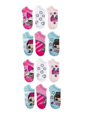 L.O.L. Surprise! Girls Socks, 12 Pack No Show (Little Girls & Big Girls)