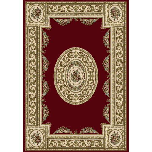 Crescent Drive Rug Company Ancient Garden Persian Red / Ivory Area Rug