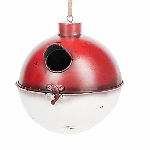 Midwest-CBK Functional Fishing Bobber Birdhouse, Red White by
