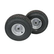 (Set of 2) 15x6.00-6 Husqvarna/Poulan Tire Wheel