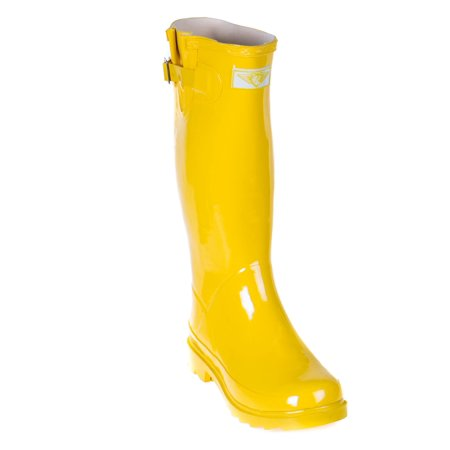 Forever Young Women Yellow Gold Classic Rubber Rain Boots](Gold Go Go Boots)