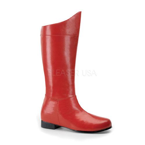 Mens Superhero Red Halloween Boots