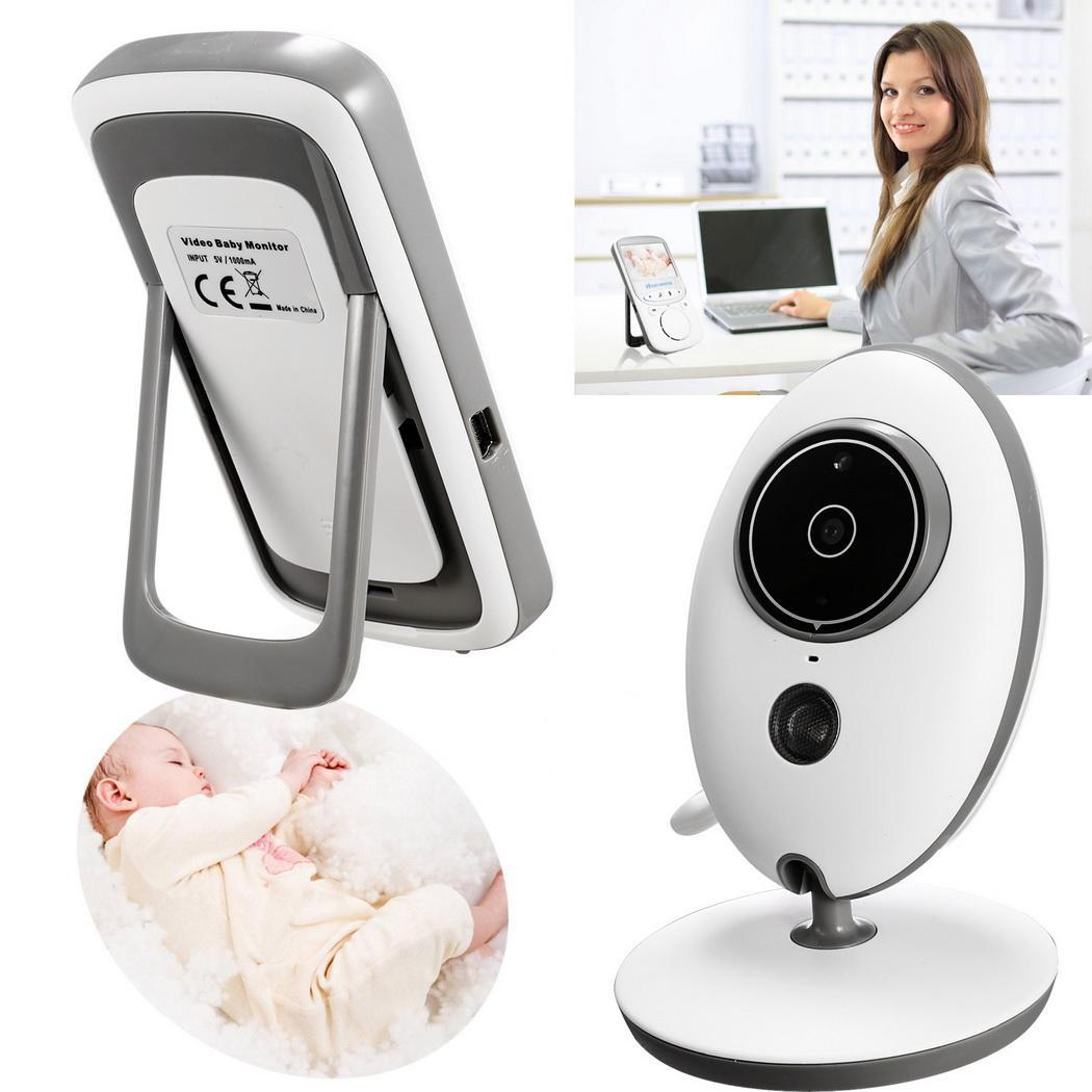 """2.4""""LCD Video Baby Monitor Camera, Automatic HD Night Vision,Two way talk back System,up to 260m Range   AMZSE"""