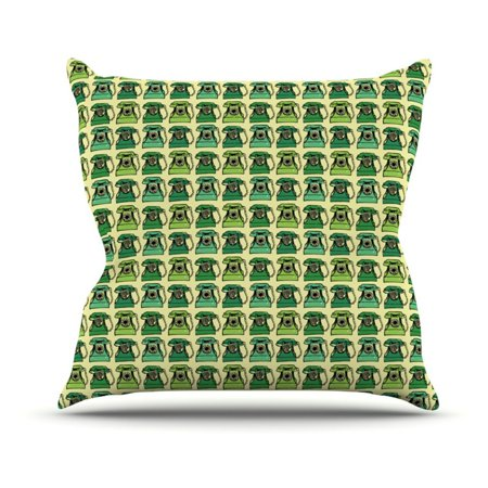 Kess InHouse Holly Helgeson Vintage Telephone Indoor/Outdoor Throw Pillow